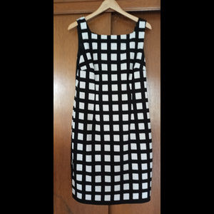 Connected Apparel Black & White Checkered Sheath